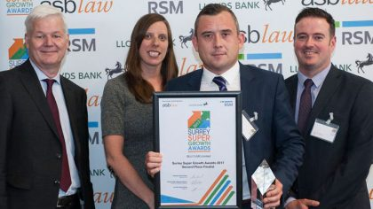 Blu-3 - runners up - Surrey Super Growth Awards